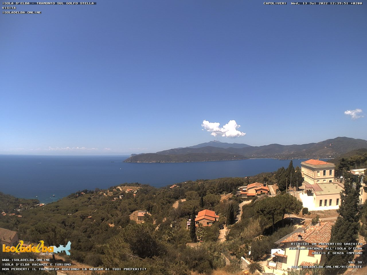 Webcam over Golfo Stella
